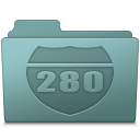 128x128px size png icon of Route Folder Willow