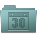 128x128px size png icon of Schedule Folder Willow
