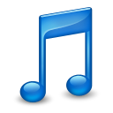 128x128px size png icon of Sidebar Music Blue