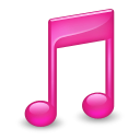 128x128px size png icon of Sidebar Music Pink