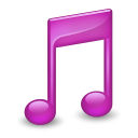128x128px size png icon of Sidebar Music Purple