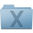 128x128px size png icon of System Folder Blue