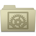 128x128px size png icon of System Preferences Folder Ash