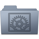 128x128px size png icon of System Preferences Folder Graphite