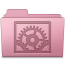 128x128px size png icon of System Preferences Folder Sakura