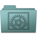 128x128px size png icon of System Preferences Folder Willow