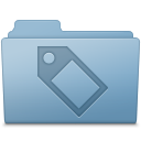 128x128px size png icon of Tag Folder Blue