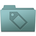 128x128px size png icon of Tag Folder Willow