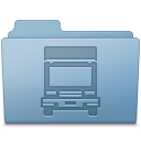 Transmit Folder Blue Icon