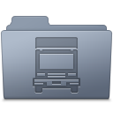 Transmit Folder Graphite Icon