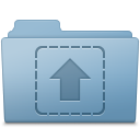 Upload Folder Blue Icon