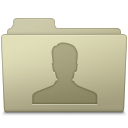 128x128px size png icon of Users Folder Ash
