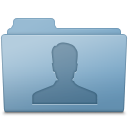 128x128px size png icon of Users Folder Blue