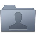 128x128px size png icon of Users Folder Graphite