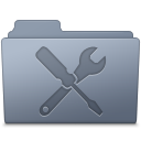 Utilities Folder Graphite Icon