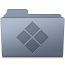 128x128px size png icon of Windows Folder Graphite