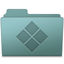 128x128px size png icon of Windows Folder Willow