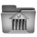 128x128px size png icon of Library Mac