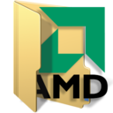128x128px size png icon of amd