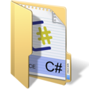 128x128px size png icon of csharp
