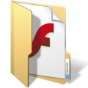 128x128px size png icon of flash files