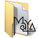 128x128px size png icon of maya files 2