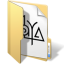 128x128px size png icon of maya files