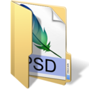 128x128px size png icon of psd files