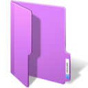 128x128px size png icon of purple