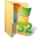 128x128px size png icon of system32