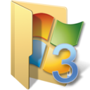 128x128px size png icon of vista folders 3