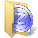 128x128px size png icon of zipgenius