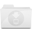 DownloadsFolder White Icon