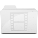 128x128px size png icon of MovieFolderIcon White
