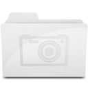 128x128px size png icon of PicturesFolderIcon White