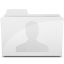 128x128px size png icon of UsersFolderIcon White