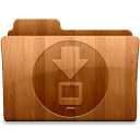 128x128px size png icon of Glossy Downloads