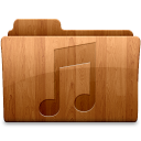 128x128px size png icon of Glossy Music