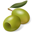 Fruit Olive Green Icon