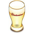 128x128px size png icon of Budweiser beer glass