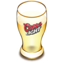 128x128px size png icon of Coors beer glass