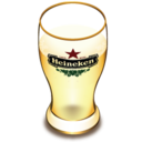 128x128px size png icon of Heineken beer glass