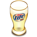 128x128px size png icon of Miller beer glass