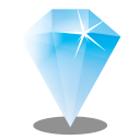 128x128px size png icon of Gem