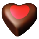 128x128px size png icon of chocolate hearts 03