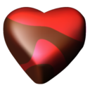 128x128px size png icon of chocolate hearts 04