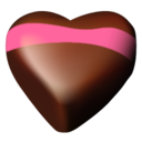 128x128px size png icon of chocolate hearts 05