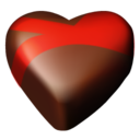 128x128px size png icon of chocolate hearts 09
