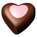 128x128px size png icon of chocolate hearts 10