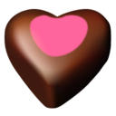 128x128px size png icon of chocolate hearts 11